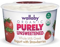 wallaby organic unsweetened yogurt