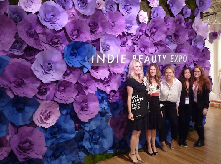 (Jillian Wright on the far left, Founder of Indie Beauty Expo)