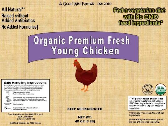 new non-gmo label chicken