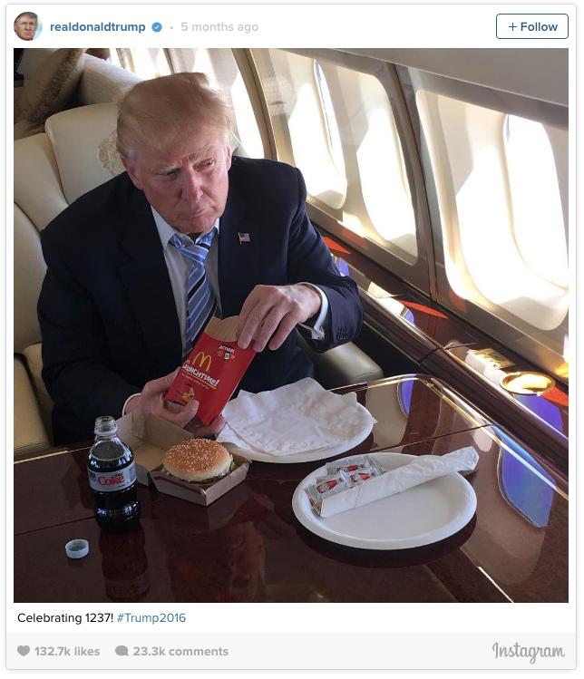 trump-eating-mcdonalds