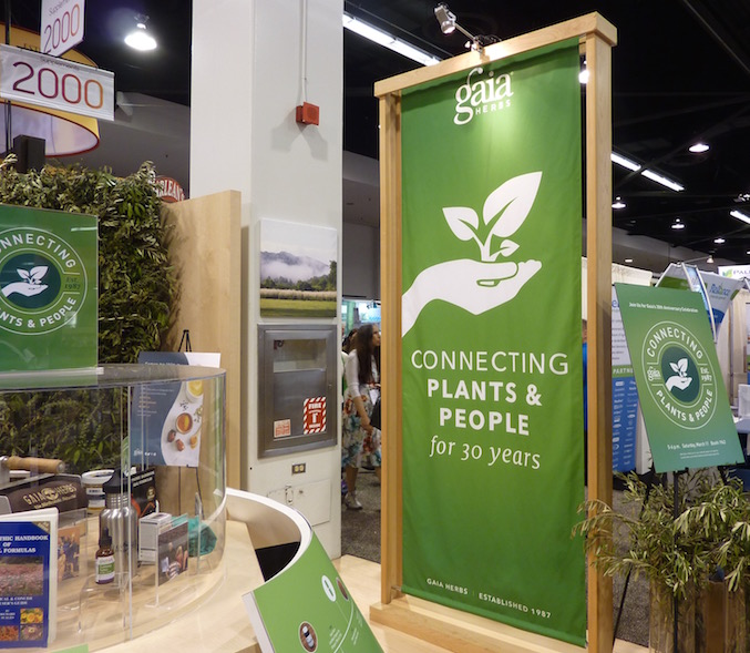 gaia-herbs-best-trade-show-booth-expo-west-2017-sign